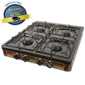 Image Is Loading Camping Gas Stove 4 Burner Portable Cooking Top