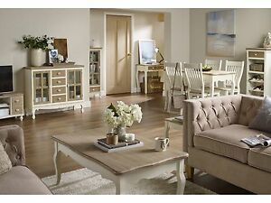 Image Is Loading Juliette Cream Amp Pine Living Room Furniture Tables
