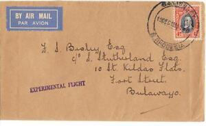 SOUTH AFRICA 1931 EXPERIMENTAL AIR MAIL FLIGHT SALISBURY RHODESIA TO BULAWAYO