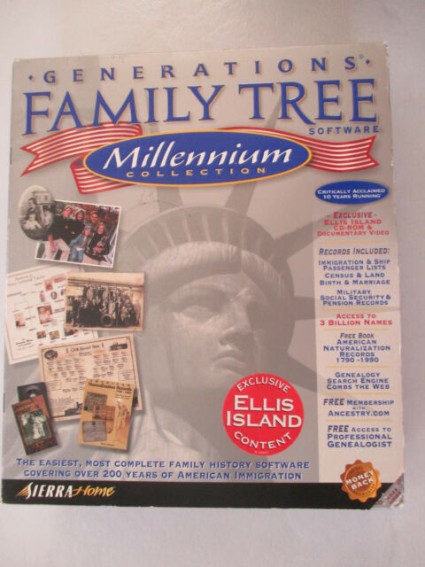 Generations Family Tree Software Millennium Collection by Sierra Home 21 CD  Set