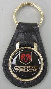 DODGE CHARGER VINTAGE BLACK LEATHER KEYRING KEYFOB #175