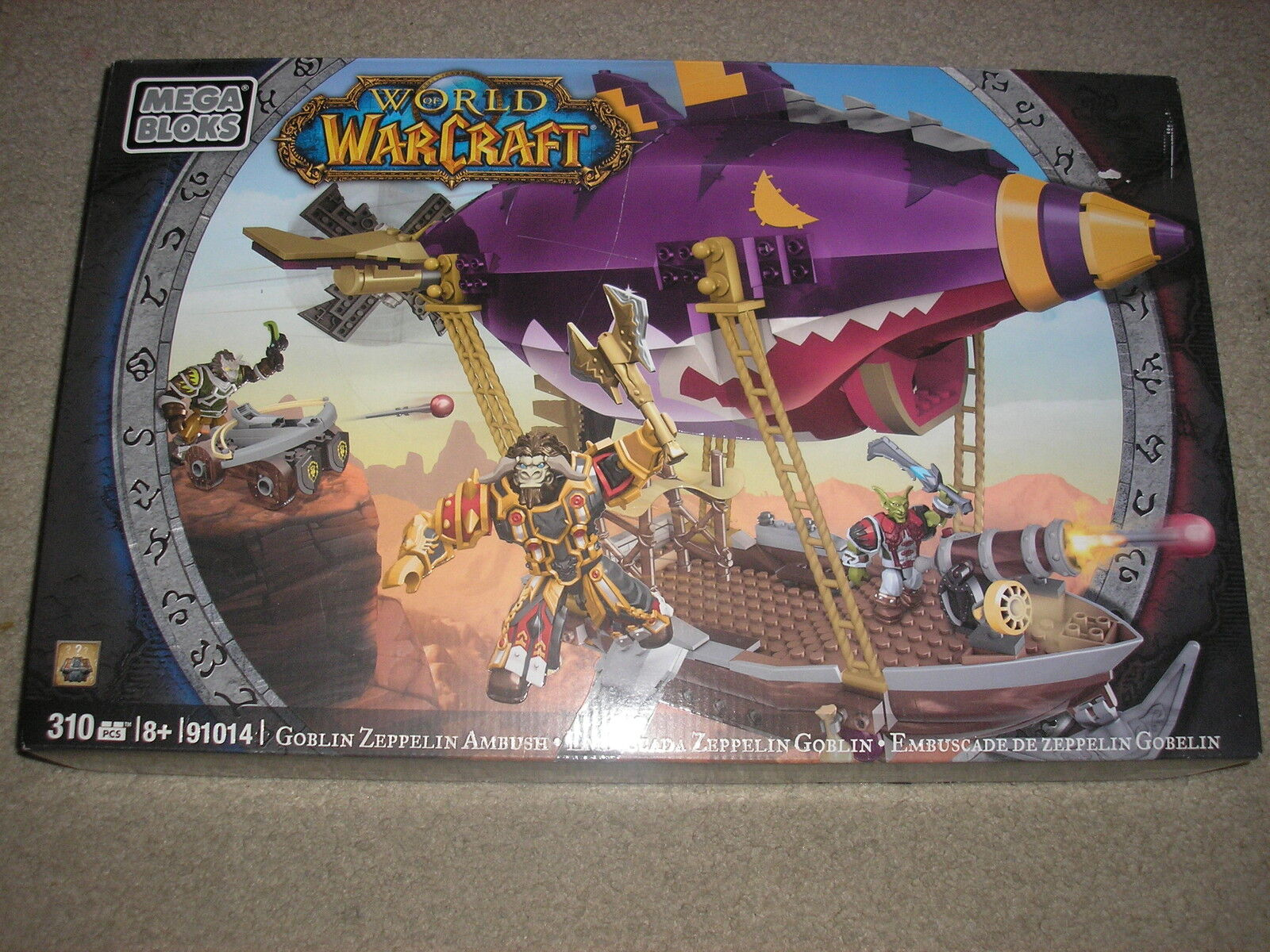 New Mega Bloks World of WarCraft Goblin Zeppelin Ambush 91014 310 pieces