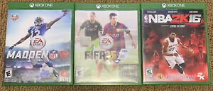 Lot-Of-3-Games-Madden-NFL-16-FIFA-15-amp-NBA2K-16-Microsoft-Xbox-One