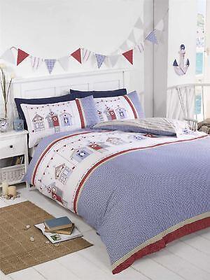 Bettwaren, -wäsche & Matratzen Flight Tracker Strandhütten Gingham Blau Weiss Rot Doppel Baumwollgemisch Bettbezug Verkaufspreis Bettwäschegarnituren