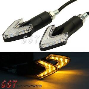 8mm Front & Rear LED Motorcycle Turn Signal Amber Lights For Suzuki Honda KTM