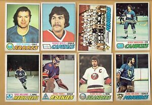 1977-78-OPC-Lot-160-cards-EX-EX