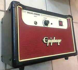 MODDED-Epiphone-VALVE-JR-TUBE-Guitar-Amplifier-5-Watt-Head-Amp-MODDED