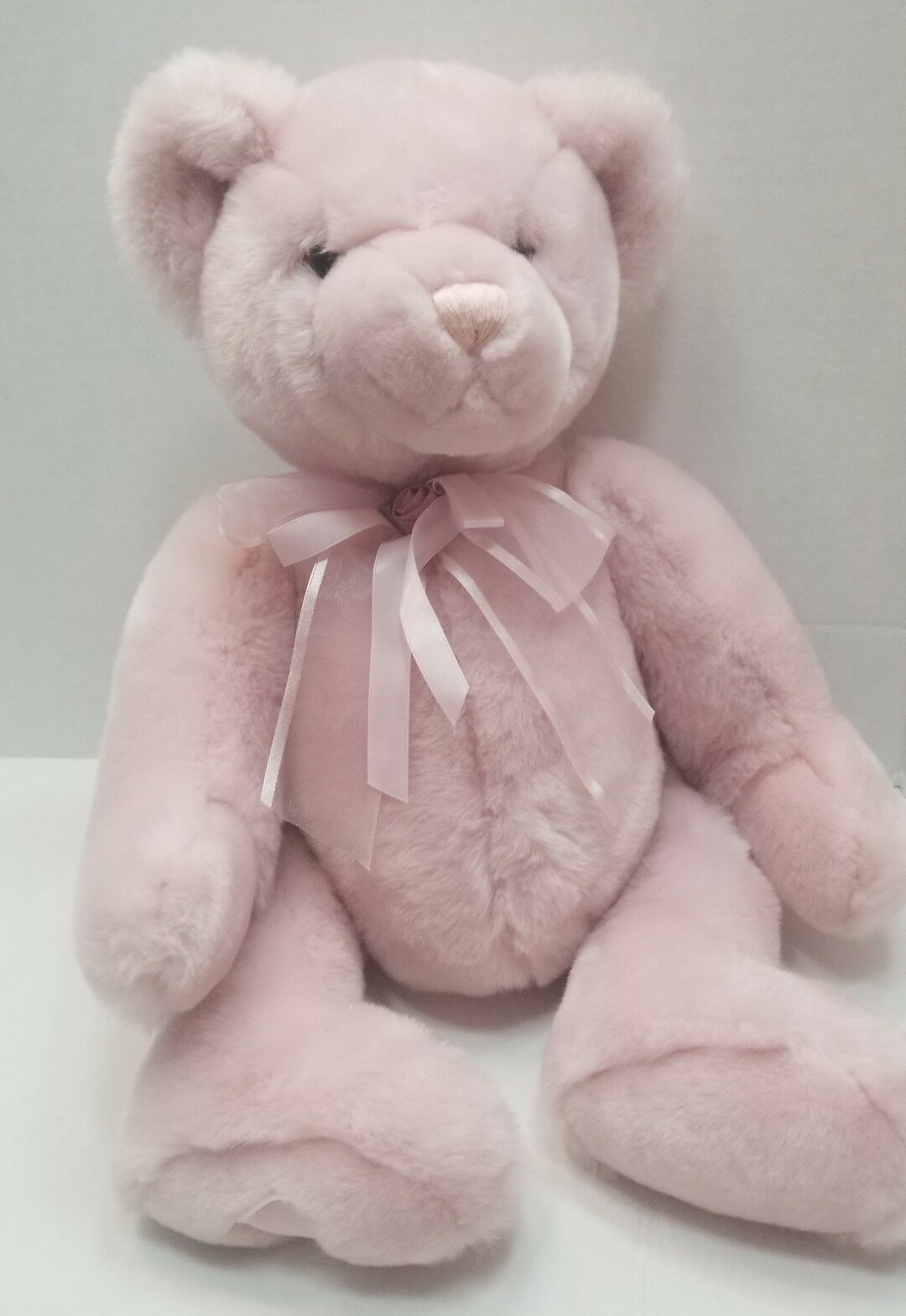 COMMONWEALTH Soft Stuffed Animal TEDDY BEAR Plush/Toy Rosa 17