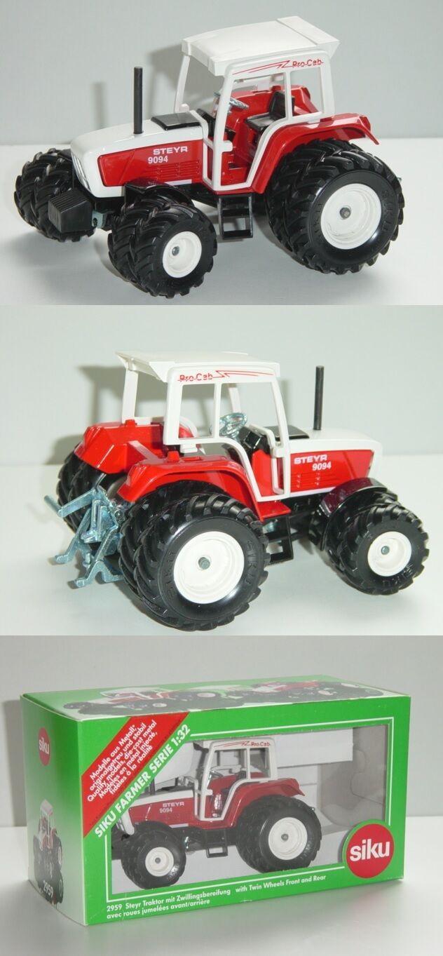 Siku Farmer 2959 Steyr 9045 Traktor mit Zwillingsbereifung, ProCab, 1 32