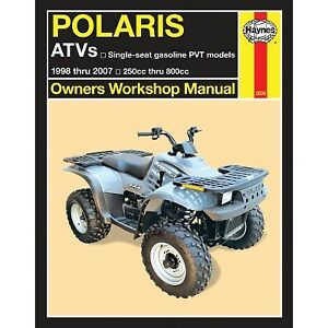 Haynes 2508 Repair Manual Polaris Sportsman 500 Rse Remington Special Ed 4x Ebay