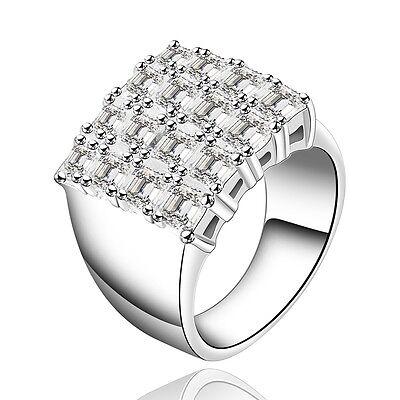 Ring Silber pl Silberring 16 Zirkonia Verlobungsring Valentin Weiß Cocktailring