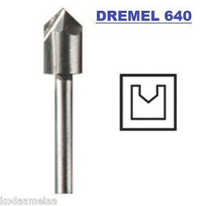 New Authentic Dremel 640 V Groove Router Bit High Grade Steel High
