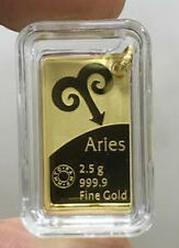 2.58 ( 2.5 + 0.08 ) Grams 999.9 Gold Mmtc Pamp Rasi Pendant - ARIES
