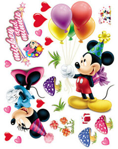 Cute-Mickey-Minnie-Home-Room-Wall-Mural-Window-Decor-Stickers-decals-removable