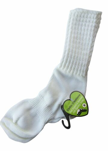 IRISH DANCE SOCKS ANKLE Length Arch Support Seamless Poodle Sock 10 to 14 Years