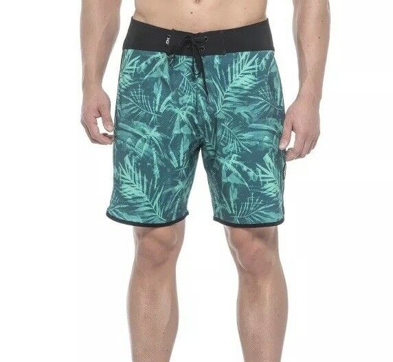 Dakine Mens SZ 40 Palm Reader Boardshorts Surf Swim Trunks Aqua Green New