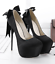 Été Femme Compensées En Daim pompe Stilettos travail Club talons hauts nœud Chaussures