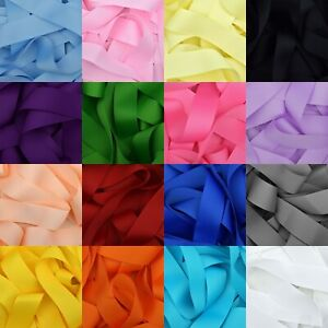 Grosgrain-Ribbon-1-3-or-5-Metre-Cut-of-75mm-3-034-in-20-Plain-Solid-Colours