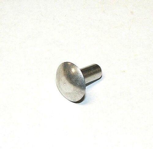 """- 100 Pcs. Hard 1//4/"""" x 5//8/"""" Full Brazier Head Solid Aluminum Rivet 2117 T4"""