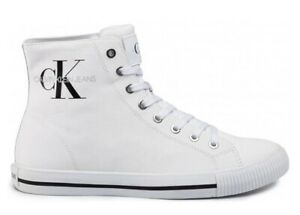 Scarpe-da-uomo-Calvin-Klein-Jeans-B4S0671-casual-sportive-alte-sneakers-in-tela
