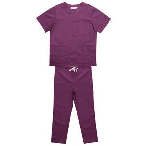 Men-Women-Scrub-Sets-Medical-Spa-Nursing-Clinic-Hospital-Uniform-Top-Pants