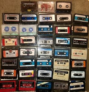 MASSIVE LOT OF 38 VINTAGE HEAD CLEANER & DEMAGNETIZER CASSETTE TAPES LOOK!!!