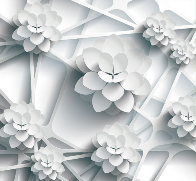 3D Weiß Flower Ceiling WallPaper Murals Wall Print Decal Deco AJ WALLPAPER GB