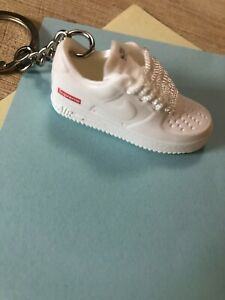 New Mini 3D AIR FORCE 1 Supreme sneaker shoes keychain Hand ...