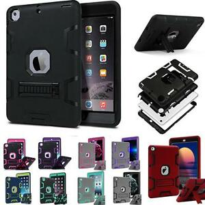 buy popular c8d33 18d83 Details about Military Shockproof Heavy Duty Rubber With Hard Stand Case  Cover For Apple iPad