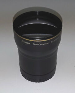 Nikon TC-E3ED tele converter lens & WC-E63 0.63x wide