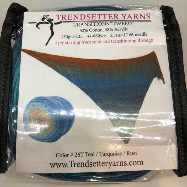 Trendsetter Yarn Transitions Tweed Knitting Sweater Scarf Crochet Cotton Acrylic