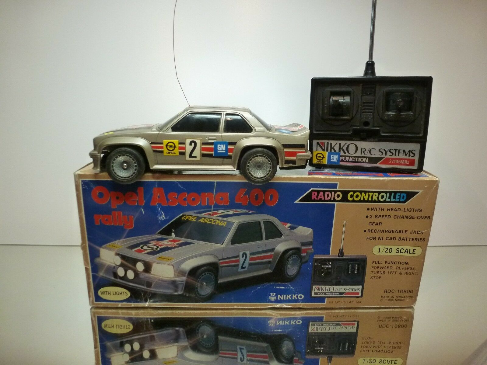 NIKKO RADIO RADIO RADIO CONTROLLED OPEL ASCONA 400 RALLY GREY 1 20 - GOOD IN BOX c0fd05