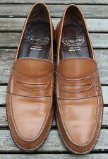 BARRACUDA Custom Grade Rare Vintage Tan Leather Loafers Moccasins Shoes EUR 43