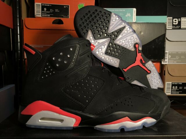 lowest price 45273 475b3 MENS NIKE AIR JORDAN 6 VI BLACK INFRARED 2014 BRAND NEW DS RARE SIZE 8.5  TORO