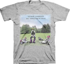 George Harrison-(The Beatles)-All Things Must Pass-X-Large Ash Grey T-shirt