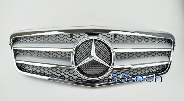 2010~2013 W212 Mercedes benz E Class E350 E550 Grill grille Silver w/ black mesh