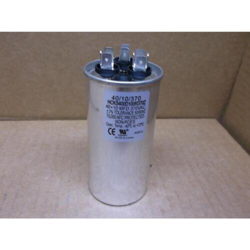 HARTLAND CONTROLS HCKS400D100R370Z 40+10 MFD X 370 VAC ROUND DUAL RUN CAPACITOR
