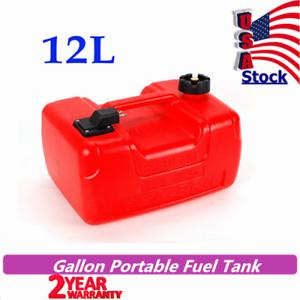 Marine 3.2Gallon Plastic Outboard Gas Tank External Boat Fuel Tank 12L Portable