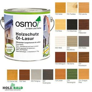 osmo holzschutz l lasur llasur holzlasur 5ml 0 75l 2 5l ab 24 28 l ebay. Black Bedroom Furniture Sets. Home Design Ideas
