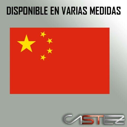 PEGATINA bandera pais china asia flag  STICKER vinilo coche moto tuning