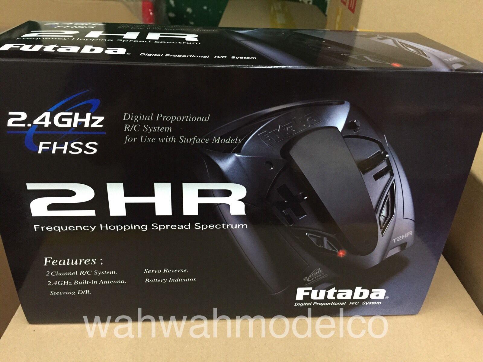 Futaba 2.4G 2-Channel 2HR R202GF + 2x S3003 servo Radio Controller Set 1 10 1 12
