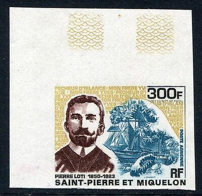 Unparteiisch St Pierre Und Miquelon 1969 Pierre Loti Schiff Imperf Non Dentele 442 Kw €100