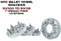 5x100 Mm To 5x112 Mm 1 Thick Conversion Wheel Spacers Toyota & More