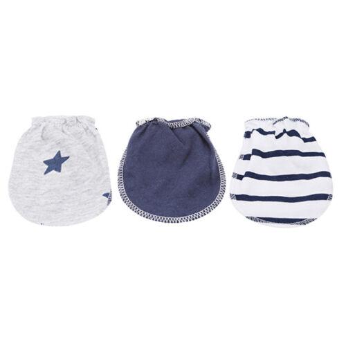 3 Pairs Sweet  Newborn Baby Protection Anti-Scratch Cartoon Mittens Gloves CB