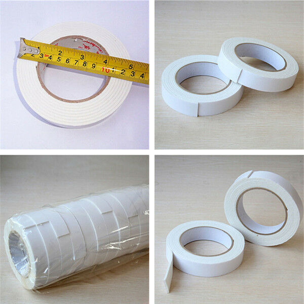 Strong Roll Heavy Duty Hold 26mm Double Side Sided Wall Mounting Foam Tape 2pcs