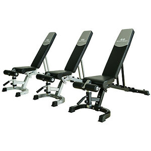 Adjustable weight bench heavy duty fid utility lifting flat incline decline ebay - Weight bench incline decline ...