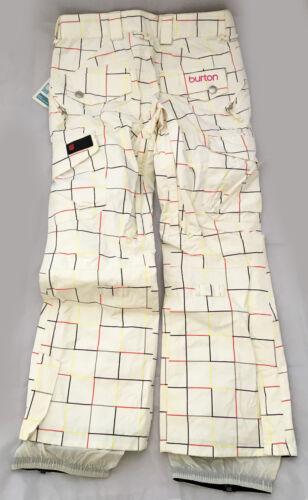 Donna Neve donna White Burton Snow Lucky da Pantalone Gridline Bianchi Bright ax1gw8nUT