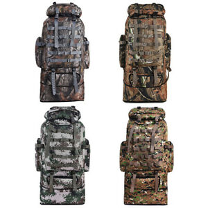 100L-Outdoor-Molle-Military-Tactical-Bag-Camping-Hiking-Trekking-Backpack-Camo