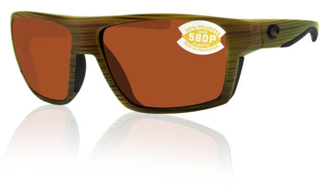580 Green Mirror Plastic 580P NEW Costa Del Mar BLOKE Matte Verde Teak