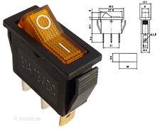 Beleuchteter Wippschalter orange gelb 12V EIN-AUS Schalter KFZ #MK111o